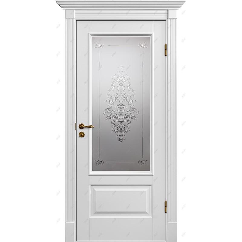 Межкомнатная дверь Классик-12 Лувр Эмаль коллекция Классик