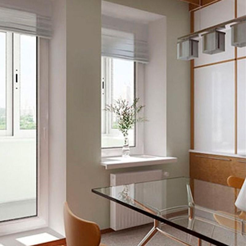 Пластиковое одностворчатое окно в интерьере