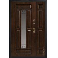 Входная полуторная дверь Металюкс СМ862 коллекция Статус