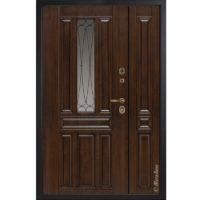 Входная полуторная дверь Металюкс СМ863 коллекция Статус